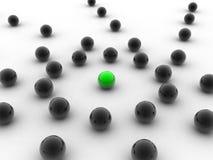 Esfera verde diferente Imagens de Stock