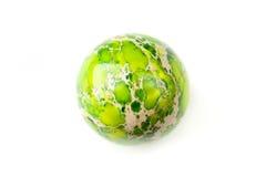 Esfera verde do jaspe Fotografia de Stock Royalty Free