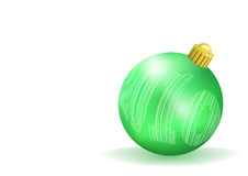Esfera verde do Natal Foto de Stock Royalty Free