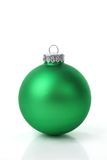 Esfera verde do Natal Fotografia de Stock Royalty Free