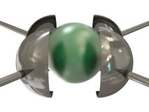 Esfera verde sob a pressão Fotos de Stock