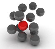 Esfera vermelha Fotografia de Stock Royalty Free