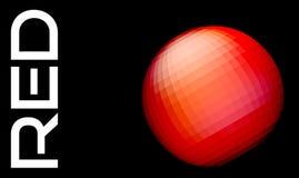 Esfera vermelha abstrata em um preto Gráficos de vetor Fotografia de Stock