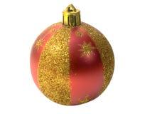 Esfera vermelha da pele-árvore Foto de Stock
