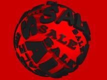 esfera vermelha da venda 3D Fotos de Stock