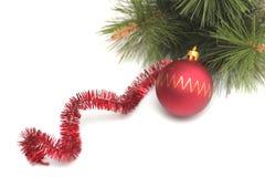 Esfera vermelha de ano novo Imagens de Stock Royalty Free