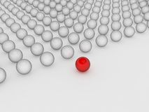 Esfera vermelha diferente Fotos de Stock