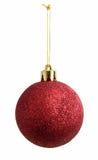 Esfera vermelha do ano novo Imagens de Stock Royalty Free