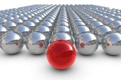 Esfera vermelha do líder com esferas Foto de Stock