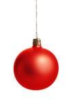 Esfera vermelha do Natal Fotografia de Stock Royalty Free