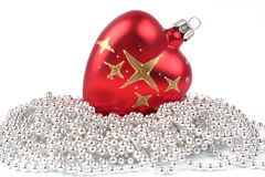 Esfera vermelha do Natal foto de stock royalty free