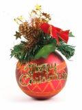 Esfera vermelha do Natal Fotos de Stock Royalty Free