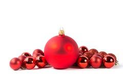 Esfera vermelha do Natal Imagens de Stock Royalty Free