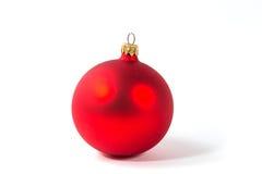 Esfera vermelha do Natal Fotografia de Stock
