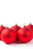 Esfera vermelha do Natal Foto de Stock