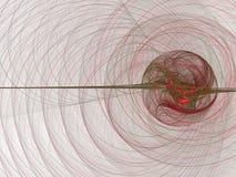 Esfera vermelha que libera ondas Imagem de Stock Royalty Free