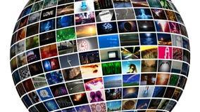 Esfera video (lazo de HD) Fotografía de archivo libre de regalías