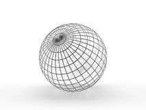 Esfera. Wireframe fino Fotografía de archivo
