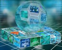Esfera y plataforma Imagenes de archivo
