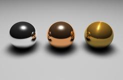 esferas 3d Fotografia de Stock Royalty Free