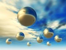 esferas 3D Imagem de Stock