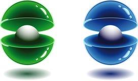 esferas 3d Imagens de Stock