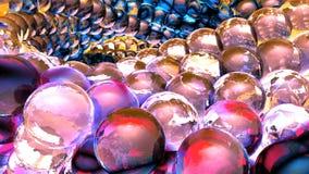 Esferas abstractas del hielo que giran en la cámara lenta Fondo de Loopable libre illustration