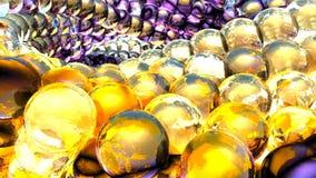 Esferas abstractas del hielo que giran en la cámara lenta Fondo de Loopable stock de ilustración