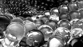 Esferas abstractas del hielo que giran en la cámara lenta Fondo de Loopable ilustración del vector