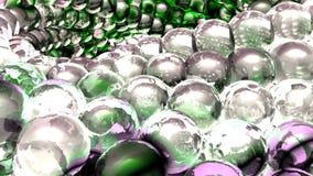 Esferas abstractas del hielo que giran en la cámara lenta representación 3d Imágenes de archivo libres de regalías