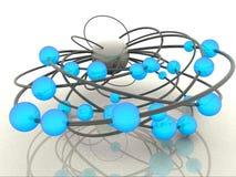 Esferas abstratas ilustração stock
