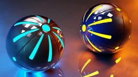Esferas abstratas da alta tecnologia Foto de Stock Royalty Free