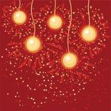 Esferas abstratas do Natal Imagens de Stock Royalty Free