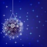 Esferas abstratas do Natal Foto de Stock