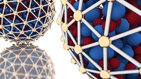 Esferas abstratas no fundo branco rendição 3d Foto de Stock Royalty Free