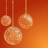 Esferas alaranjadas do glitter Foto de Stock