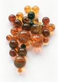 Esferas ambarinas Foto de Stock Royalty Free