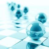 Esferas azuis Foto de Stock Royalty Free