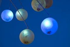 Esferas azuis Fotografia de Stock Royalty Free