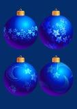 Esferas azuis de ano novo ilustração royalty free