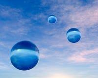 Esferas azuis de cristal ilustração royalty free