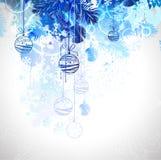 Esferas azuis do Natal Imagens de Stock