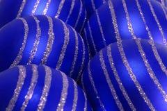 Esferas azuis do Natal Foto de Stock Royalty Free