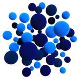 Esferas azules Ilustración del Vector