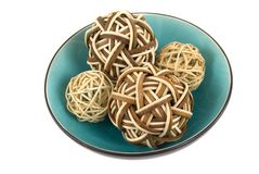 Esferas Bambu-De madeira Fotos de Stock Royalty Free