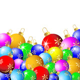 Esferas brilhantes do Natal ilustração stock