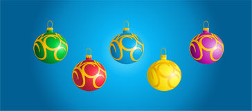 Esferas brilhantes do Natal Imagens de Stock