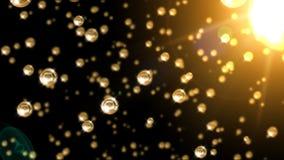 Esferas brilhantes e brilhando do ouro capazes de dar laços ilustração royalty free