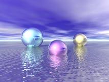 Esferas brillantes Imágenes de archivo libres de regalías