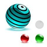 Esferas brillantes del color stock de ilustración